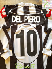 2002/03 Juventus Home European Football Shirt. Del Piero #10 (XL)