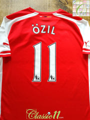 2014/15 Arsenal Home Premier League Football Shirt Özil #11 (L)