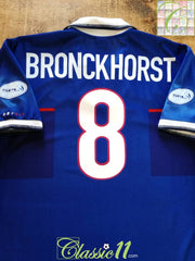 1998/99 Rangers Home SPL Football Shirt Bronckhorst #8 (L)