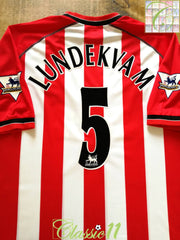 2003/04 Southampton Home Premier League Football Shirt Lundekvam #5 (XL)