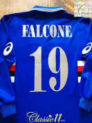 2003/04 Sampdoria Home Football Shirt. Falcone #19 (XL)