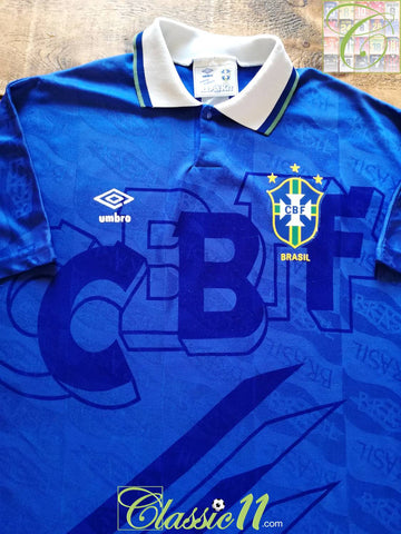 1991/92 Brazil Away Football Shirt (M)