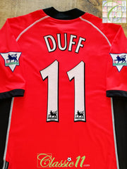 2002/03 Blackburn Rovers Away Premier League Football Shirt Duff #11 (XL)