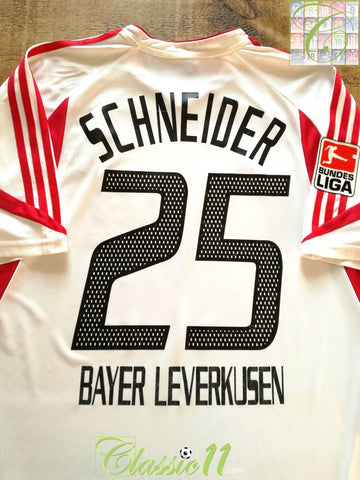 2003/04 Bayer Leverkusen Away Bundesliga Football Shirt Schneider #25 (L)