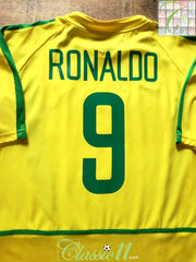 2002/03 Brazil Home Football Shirt Ronaldo #9 (L)