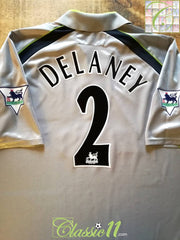2001/02 Aston Villa Away Premier League Football Shirt Delaney #2 (XL)
