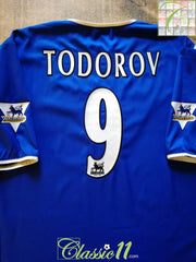 2003/04 Portsmouth Home Premier League Football Shirt Todorov #9 (XXL)
