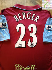 2006/07 Aston Villa Home Premier League Football Shirt Berger #23 (XL)