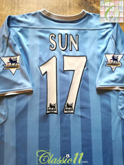 2003/04 Man City Home Premier League Football Shirt Sun #17 (XL)