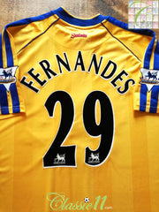 2002/03 Southampton 3rd Premier League Football Shirt Fernandes #29 (XL)