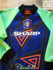 1994/95 Man Utd Goalkeeper Football Shirt (B)