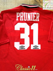 1995/96 Man Utd Home Football Shirt Prunier #31 (XXL)