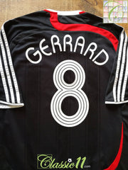 2007/08 Liverpool 3rd European Football Shirt Gerrard #8 (L)