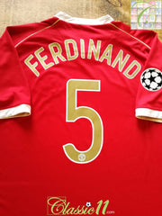 2006/07 Man Utd Home Champions League Football Shirt Ferdinand #5 (XXL)