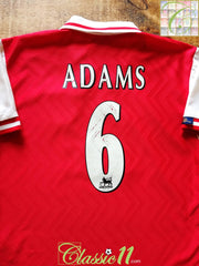 1997/98 Arsenal Home Premier League Football Shirt Adams #6 (M)