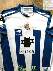 2009 Real Sociedad Home Centenary Football Shirt (M)