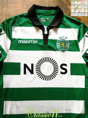 2016/17 Sporting Lisbon Home Football Shirt (S)