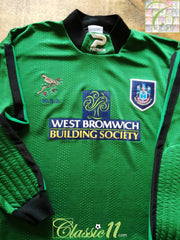 1997/98 West Bromwich Albion Goalkeeper Football Shirt (S)
