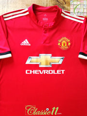 2017/18 Man Utd Home Football Shirt (M)