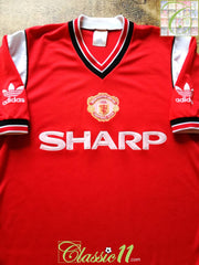 1984/85 Man Utd Home Football Shirt (M)