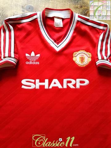 1986/87 Man Utd Home Football Shirt (M)