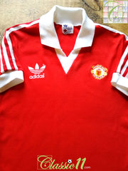 1980/81 Man Utd Home Football Shirt (S)