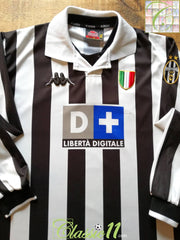 1998/99 Juventus Home Football Shirt. (XL)