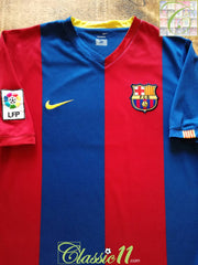 2006/07 Barcelona Home La Liga Football Shirt (M)
