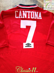 1994/95 Man Utd Home Football Shirt Cantona #7 (XL)
