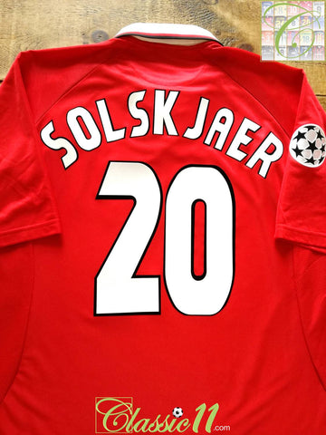 1997/98 Man Utd Home Champions League Football Shirt Solskjaer #20 (XXL)