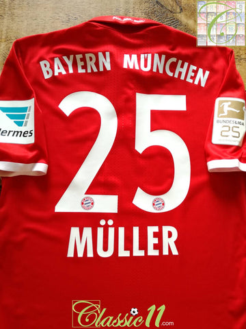 2016/17 Bayern Munich Home Bundesliga Adizero Football Shirt Müller #25 (M) *BNWT*