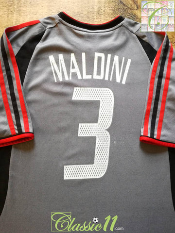 2003/04 AC Milan 3rd Coppa Italia Football Shirt Maldini #3 (XL)