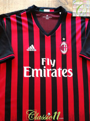 2016/17 AC Milan Home Football Shirt (XXL)