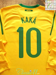 2010/11 Brazil Home Football Shirt. Kaka #10 (L)