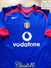 2005/06 Man Utd Away Football Shirt (XXL)