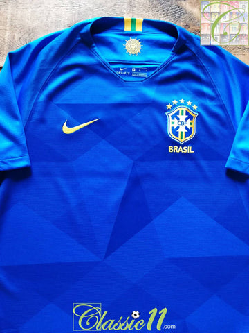 2018/19 Brazil Away Football Shirt (M)