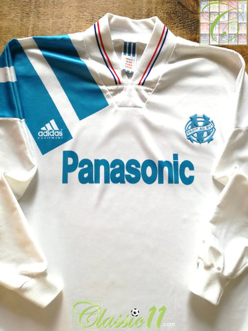 1992/93 Marseille Home Football Shirt. (M)