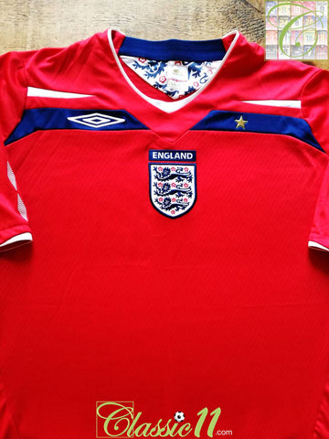 2008/09 England Away Football Shirt (XL)