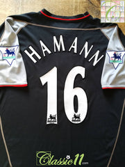 2002/03 Liverpool Away Premier League Football Shirt Hamann #16 (XL)