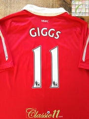 2010/11 Man Utd Home Premier League Football Shirt Giggs #11 (S)