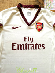 2007/08 Arsenal Away Football Shirt (W) (Size 8)