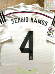 2014/15 Real Madrid Home La Liga Football Shirt Sergio Ramos #4 (XL)