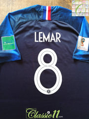 2018 France Home World Cup Football Shirt Lemar #8 (XXXL)