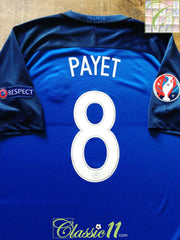 2016 France Home European Championship Football Shirt Payet #8 (XL)