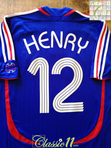2006/07 France Home Football Shirt Henry #12 (L)