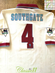 1996/97 Aston Villa Away Premier League Football Shirt Southgate #4 (L)