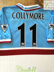 1997/98 Aston Villa Away Premier League Football Shirt Collymore #11 (L)