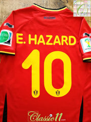 2014 Belgium Home World Cup Football Shirt Hazard #10 (S)
