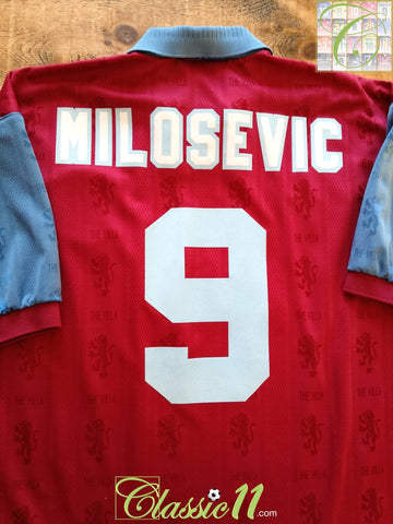 1995/96 Aston Villa Home Football Shirt Milosevic #9 (XL)