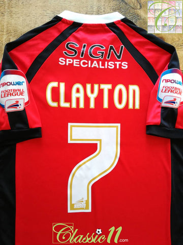 2010/11 Walsall Home Football League Shirt Clayton #7 (S)
